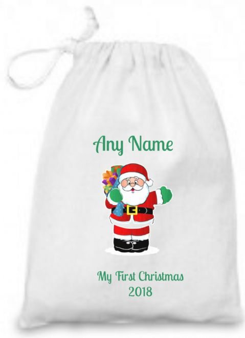 First Christmas Bag with Santa 2017